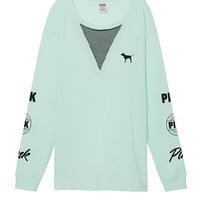 Campus Long Sleeve Mesh Tee - PINK - Victoria's Secret
