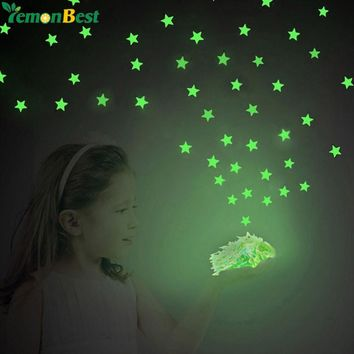 100PCS/Set Home Decor Wall Sticker Glow In The Dark