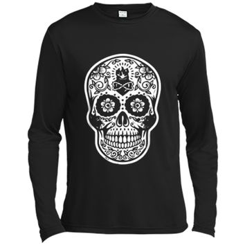 Sugar Skull Day Of The Dead Party  Long Sleeve Moisture Absorbing Shirt