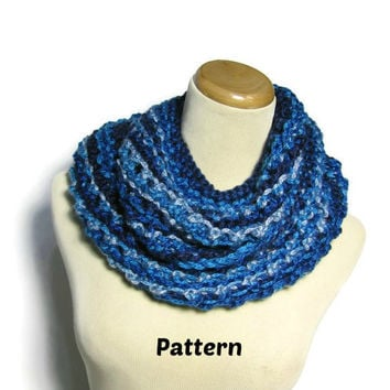 Lacy Infinity Scarf PDF Pattern, Cowl Pattern, Knit Pattern, Knit Scarf, Pattern, Scarf Pattern