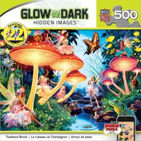 Glow in the Dark - Hidden Images - Toadstool Brook - 500 Piece Jigsaw Puzzle