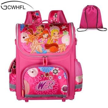 ICIKU62 GCWHFL Brand Orthopedic Schoolbag Girls Backpacks For School Kids Rucksack Children School Bag Princess Knapsack Mochila Escolar