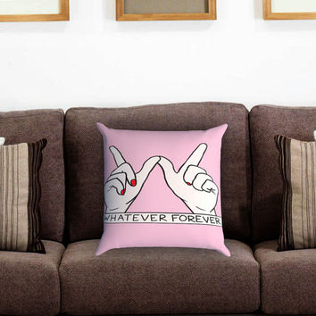 Whatever Forever Pillow Cover , Custom Zippered Pillow Case One Side Two Sides