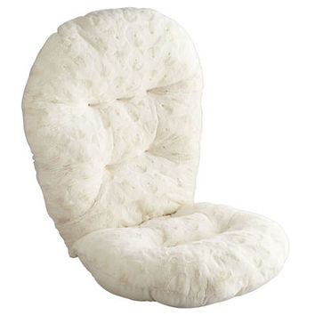 Swivel Rocker Cushion - Fuzzy Sand