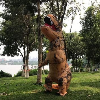 Purim Inflatable t rex Dinosar Costume Adult Cosplay Party Inflatable Dinosaur T REX Blowup t-rex Halloween Costume for Women