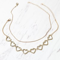 LA Hearts Heart Chain Choker Pack at PacSun.com