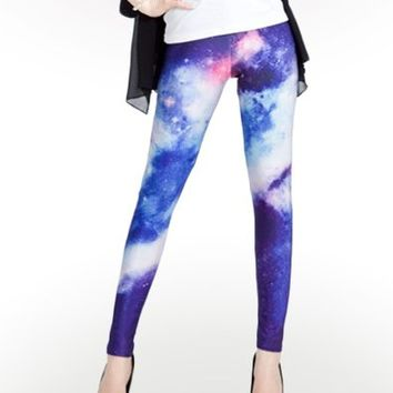 Blue Space Leggings : Comfortable Legging Pants