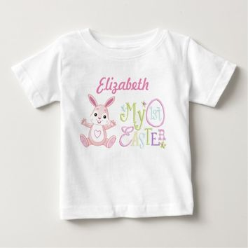 My 1st Easter Pink Bunny Baby Fine Jersey T-Shirt