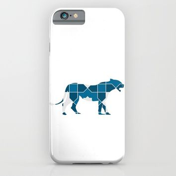 LEOPARD SILHOUETTE WITH PATTERN iPhone & iPod Case by deificus Art