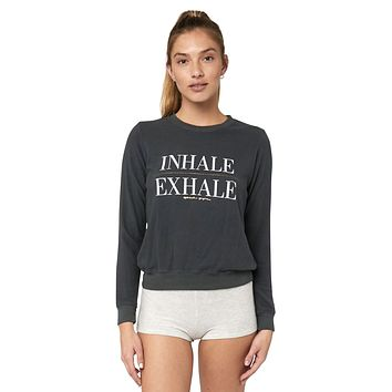 Inhale Exhale Crew Neck Sweatshirt