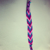 Pink purple and blue bracelet