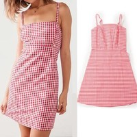 Red Gingham Mini Dress