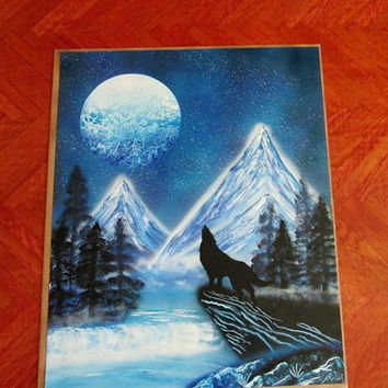 wolf spray paint art,wolf painting,wolf art,wolf spray painting,wolf gifts,24 inch*30inch