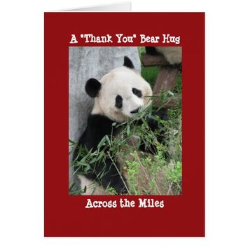 Giant Panda Thank You Bear Hug Across the Miles Card