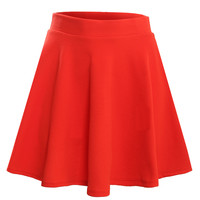 Womens Textured Flared Skater Skirt