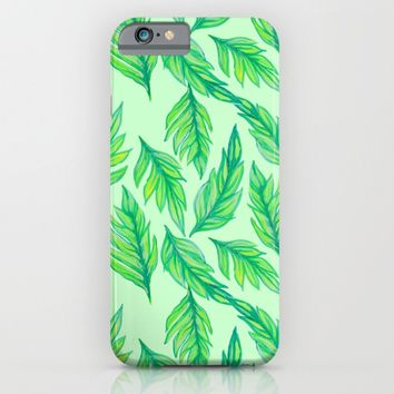 Green Leaves iPhone & iPod Case by Lisa Argyropoulos