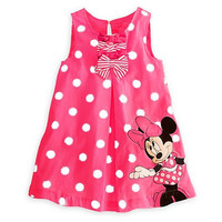 Choice of Girls Minnie Mouse Spring/Summer Dresses. Light Pink or Rose (Darker Pink)