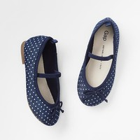 Gap Baby Dot Denim Ballet Flats