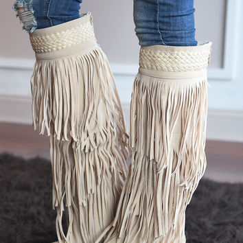 Do it Dolly Style Fringe Boots