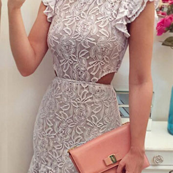 Cupshe Read The Shine Lace Dress