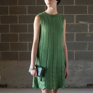Hand Knit Pleat Dress