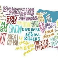 US States Stereotypes Map » Funny, Bizarre, Amazing Pictures & Videos