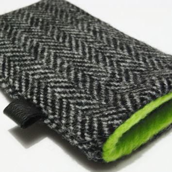 iphone 4 Cover / iphone 4s case / Harris Tweed by pomella on Etsy