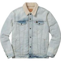 Supreme Levi Sherpa Jacket - Denim Blue