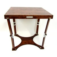 Spiderlegs C3030-M Hand Crafted Portable Wooden Folding Cafi Table w/ Mahogany Finish