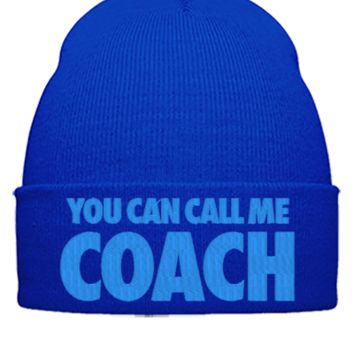 YOU CAN CALL ME COACH EMBROIDERY HAT
