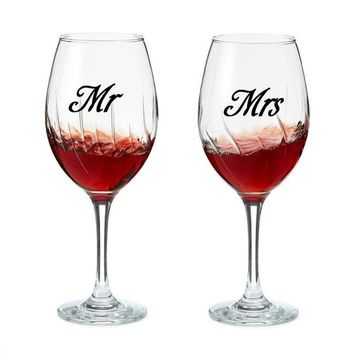 Mr & Mrs Wine glass jar wedding Decal Stickers wedding gift sticker engagement party present love of 3 pairs