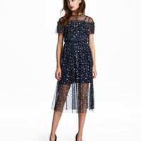 H&M Patterned Mesh Dress $39.99