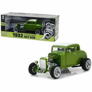 "1932 Ford Custom Hot Rod Green ""Gas Monkey Garage"" 2012 TV Series 1/18 Diecast Car Model by Greenlight"