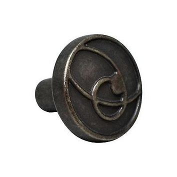 "Silverline K2305 Weathered Decorative Knob Diameter: 1-3/16"" Cabinet Hardware"