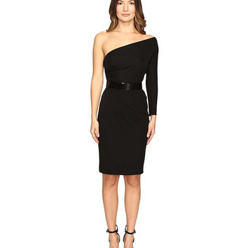 DSQUARED2 Viscose One Shoulder Long Sleeve Crepe Dress