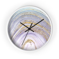 Agate Frost Wall Clock