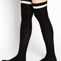 ASOS Stripe Over The Knee Socks