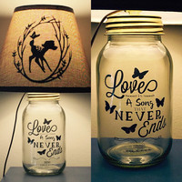 Bambi Inspried Mason Jar Lamp