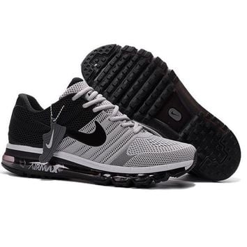 NIKE AIR MAX Fashion Sport Casual Shoes Sneakers Gray toe