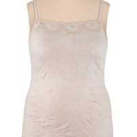 Plus Size - Crinkle Cami - Beige