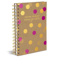 Never Forget Your Sparkle Hard Cover Journal in Fuchsia Pink and Gold