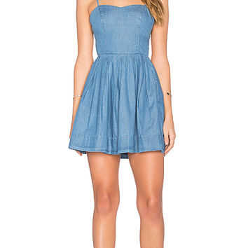 Sandy Fit & Flare Dress in Lagoon Blue