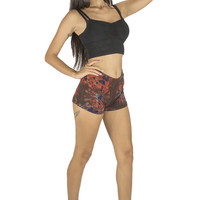 Comfy Lounge Shorts Navy-Red Palette Tie-Dye Swirl