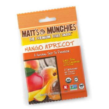 Matt Munchies Premium Fruit Snack Mango Apricot Flavor 1 Oz - Pack of 12