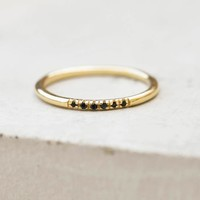 Petite Stacking Ring - Gold + Black