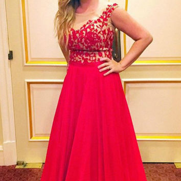 Backless Prom Dresses,Red Prom Dresses, Long Evening Dress