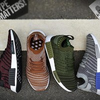 Adidas Originals NMD Runner Men Women Running Shoes nmd Runner R2 Pk Wine Red Brown Green Grey Ultra Boost Fashion Flat Sports Sneakers