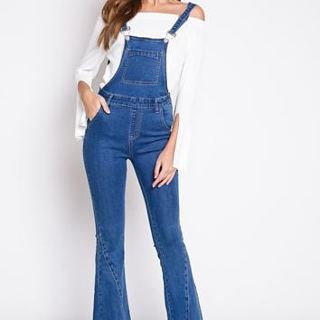 Country Flare Overalls in Denim