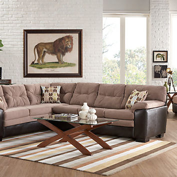 River Grove Brown 2Pc Sectional