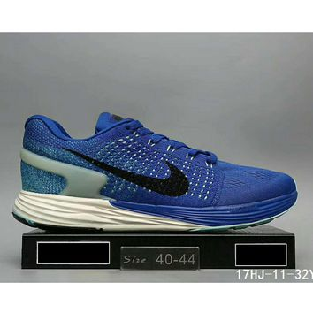 Nike Lunarglide 7 Moon Fly line sports running shoes sneakers F-HAOXIE-ADXJ Blue
